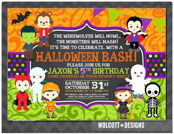 Halloween Party Invitation Ideas Halloween Birthday Invitation Kids Halloween Party