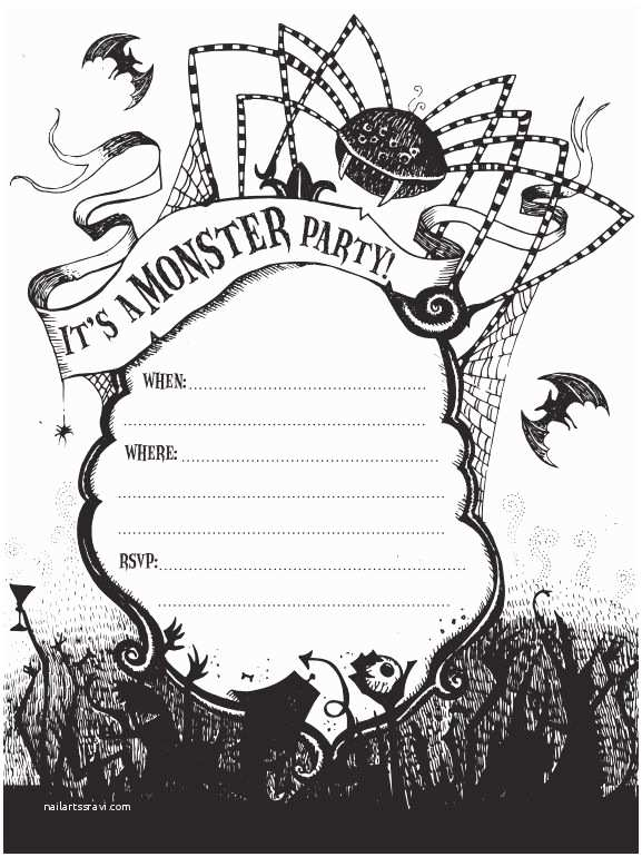 Halloween Party Invitation Template 21 Free Halloween Invitations that You Can Print
