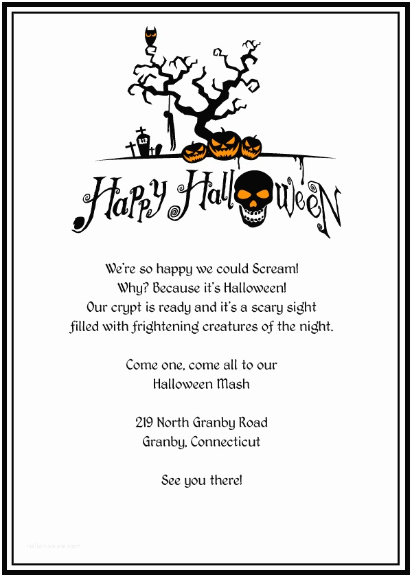 image about Free Printable Halloween Invitations titled Halloween Occasion Invitation Template Halloween Invites