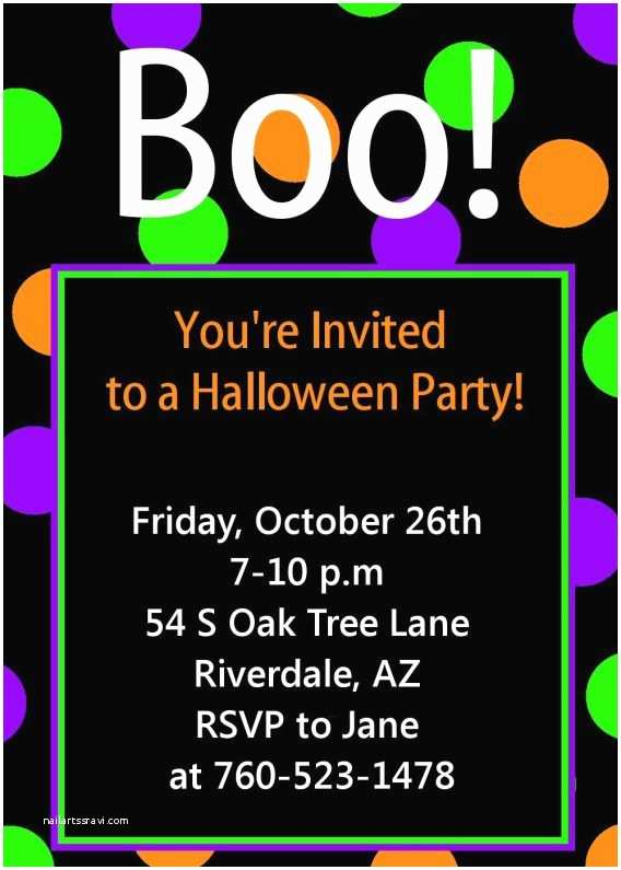 Halloween Party Invitation Template Free Halloween Party Invitation Templates