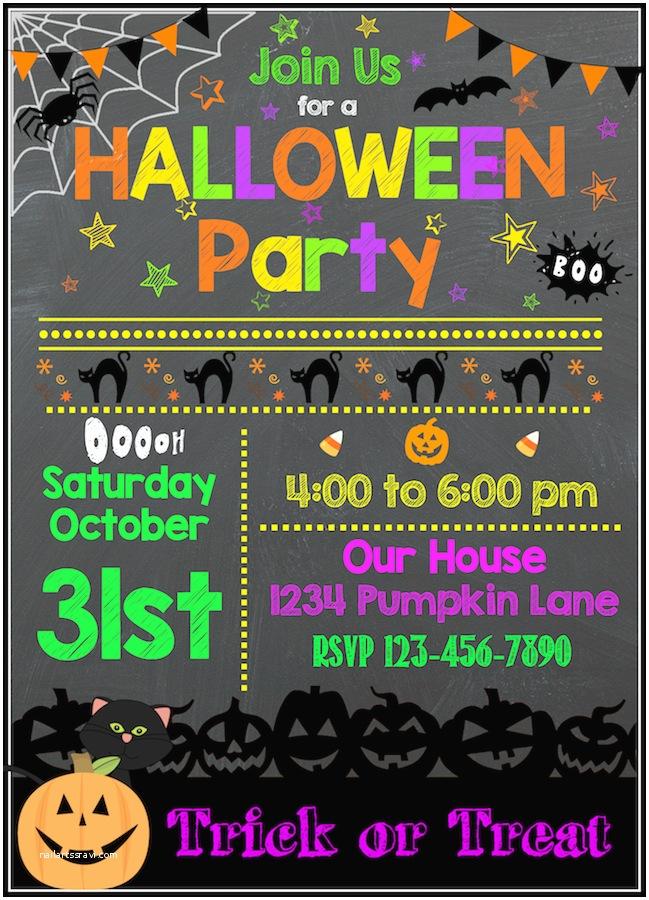 Halloween Party Invitation Template Free Halloween Printables