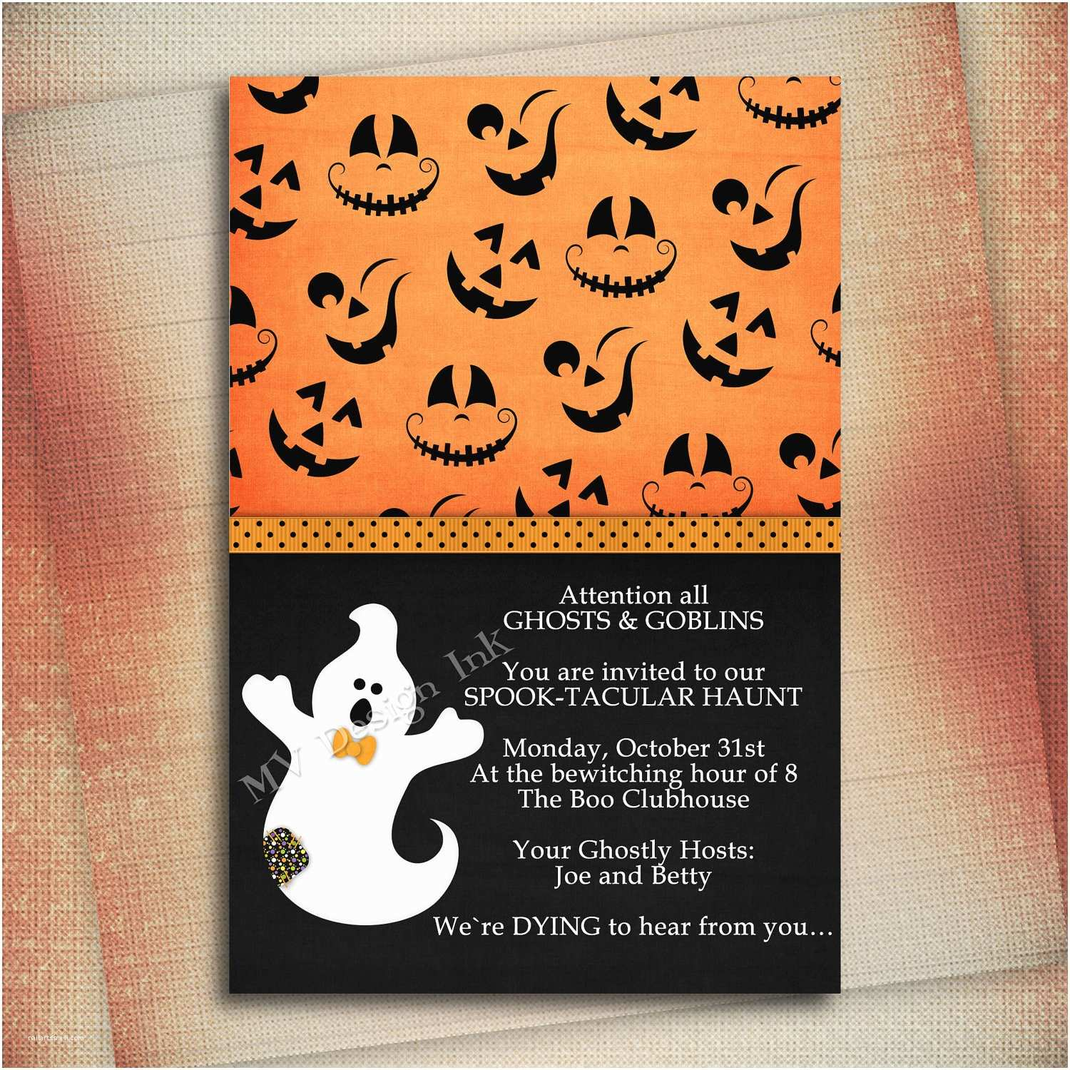 Halloween Party Invitation Template Halloween Birthday Invitation Wording – Festival Collections