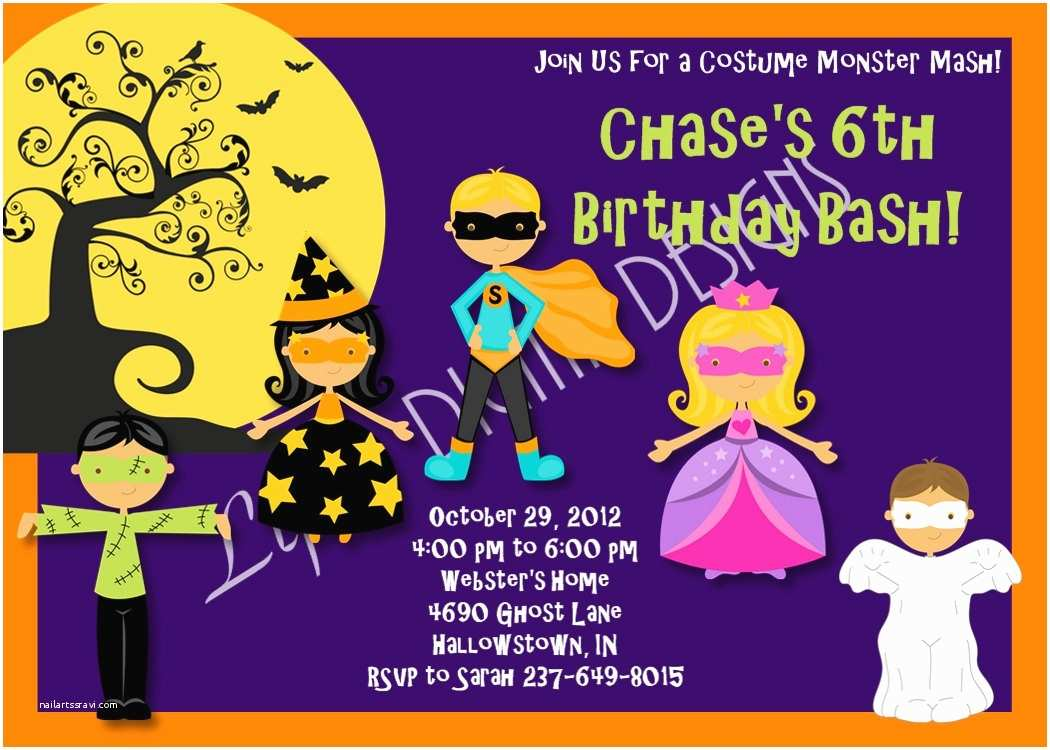 50 Halloween Party Invitation Template