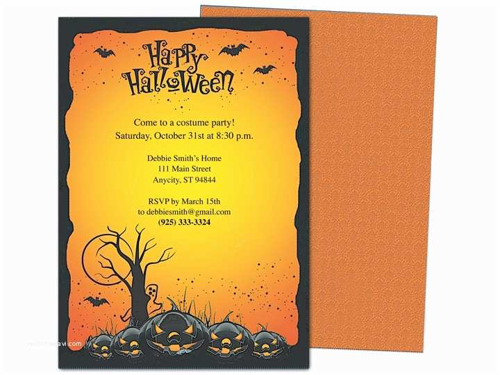 Halloween Party Invitation Template Hollows Halloween Party Template