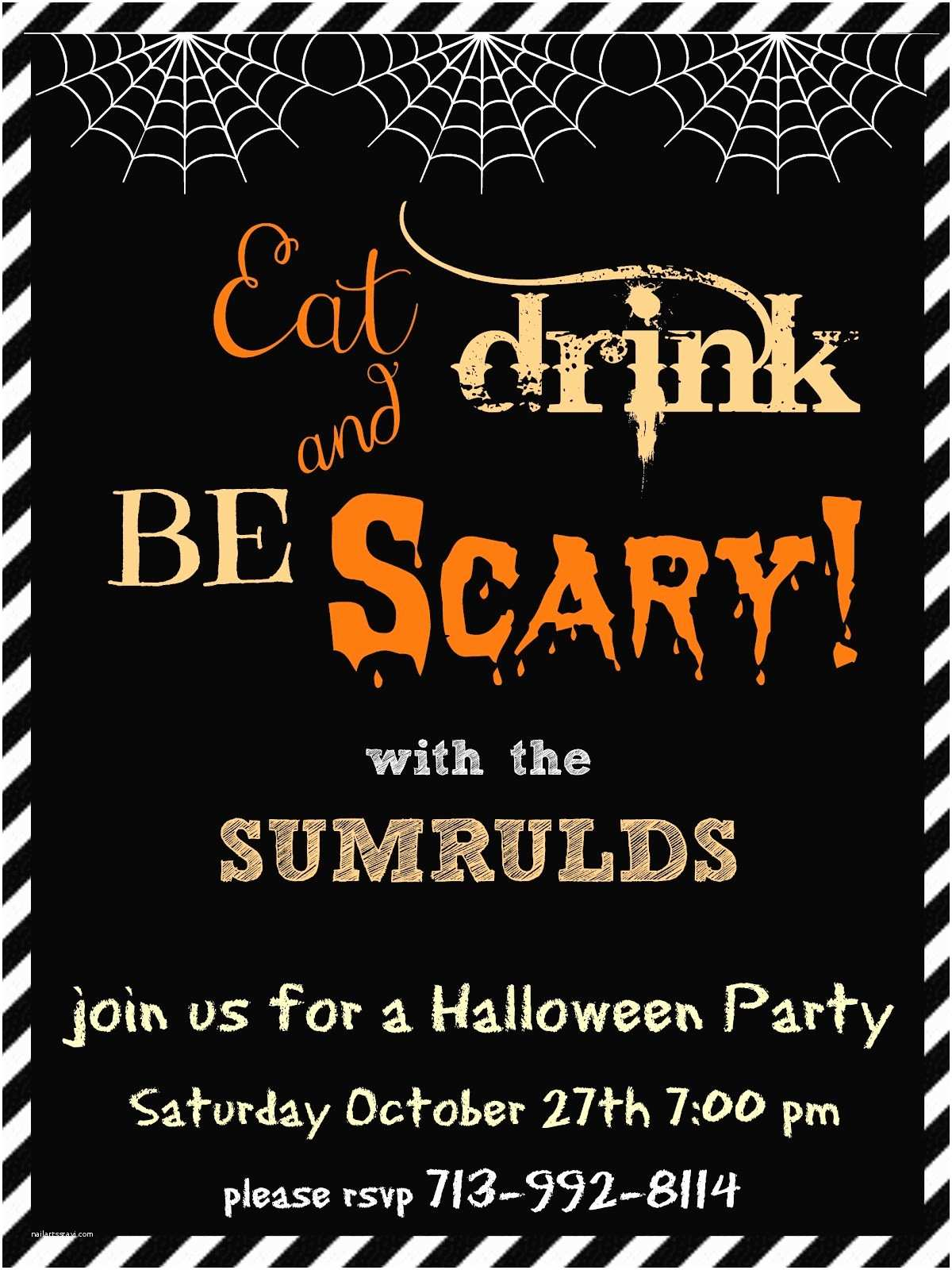 Halloween Party Invitations Crafty In Crosby Halloween Party Invitations Please