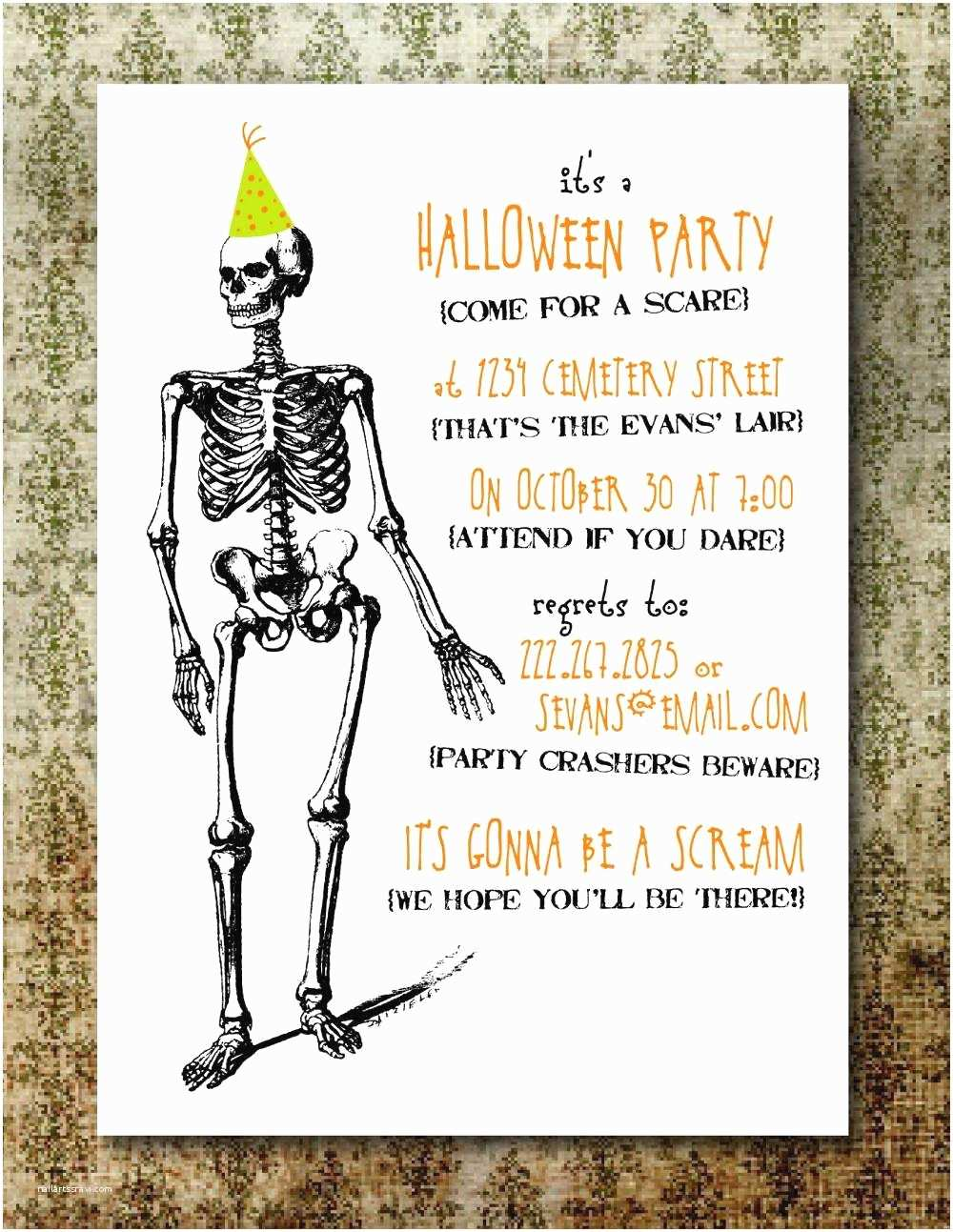 Halloween Party Invitations Free Printable Halloween Invitations for Adults