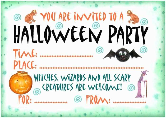 Halloween Party Invitations Templates 16 Awesome Printable Halloween Party Invitations