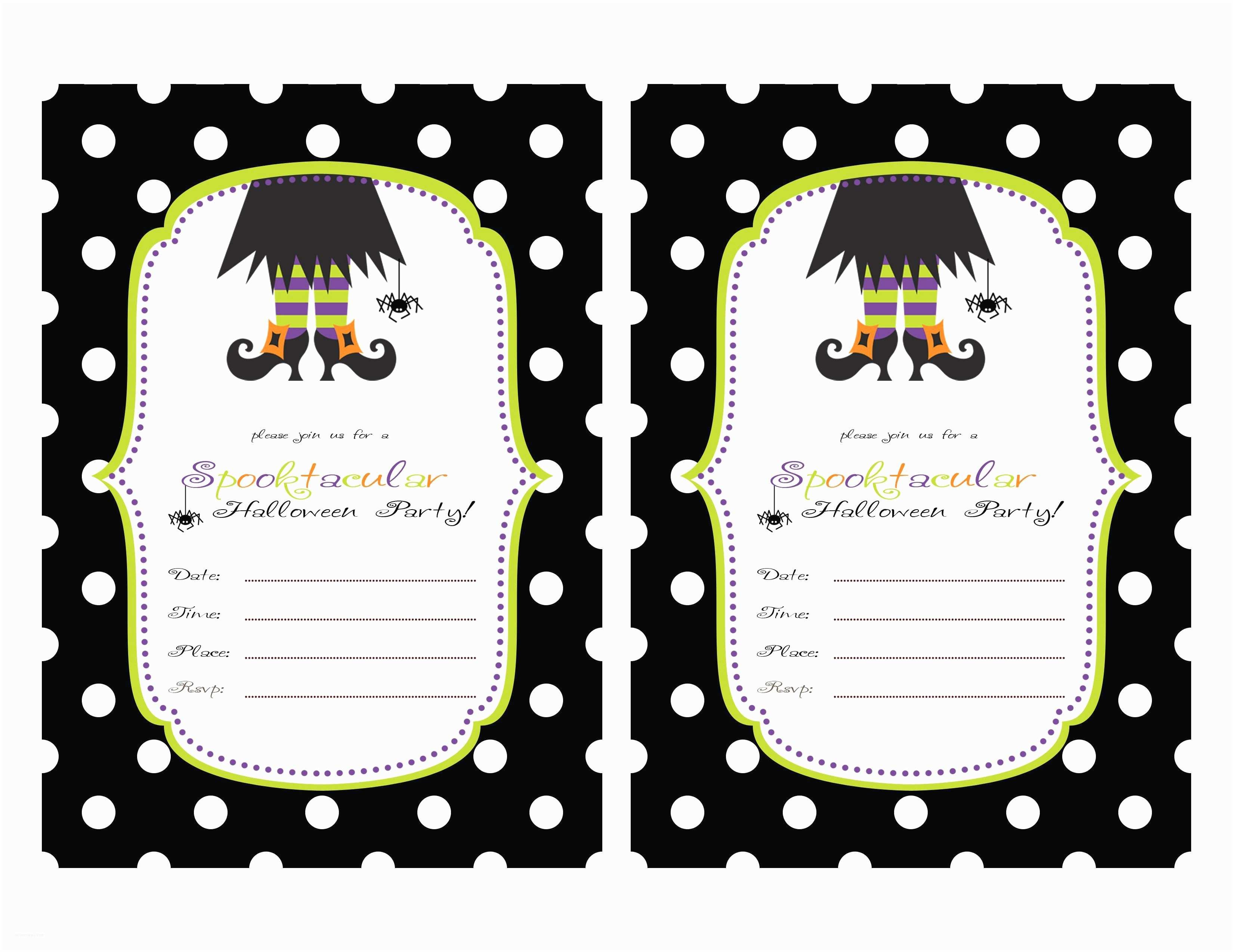 Halloween Party Invitations Templates Birthday Invitation Card Free Printable Birthday