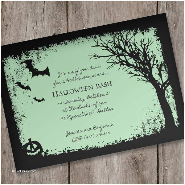 Halloween Party Invitations Templates Halloween Invitation Template – Spooky Woods – Download
