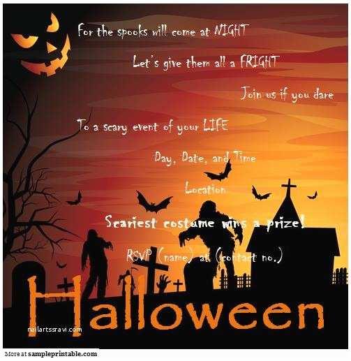 Halloween Party Invitations Templates Halloween Party Invitation Printable Halloween Party