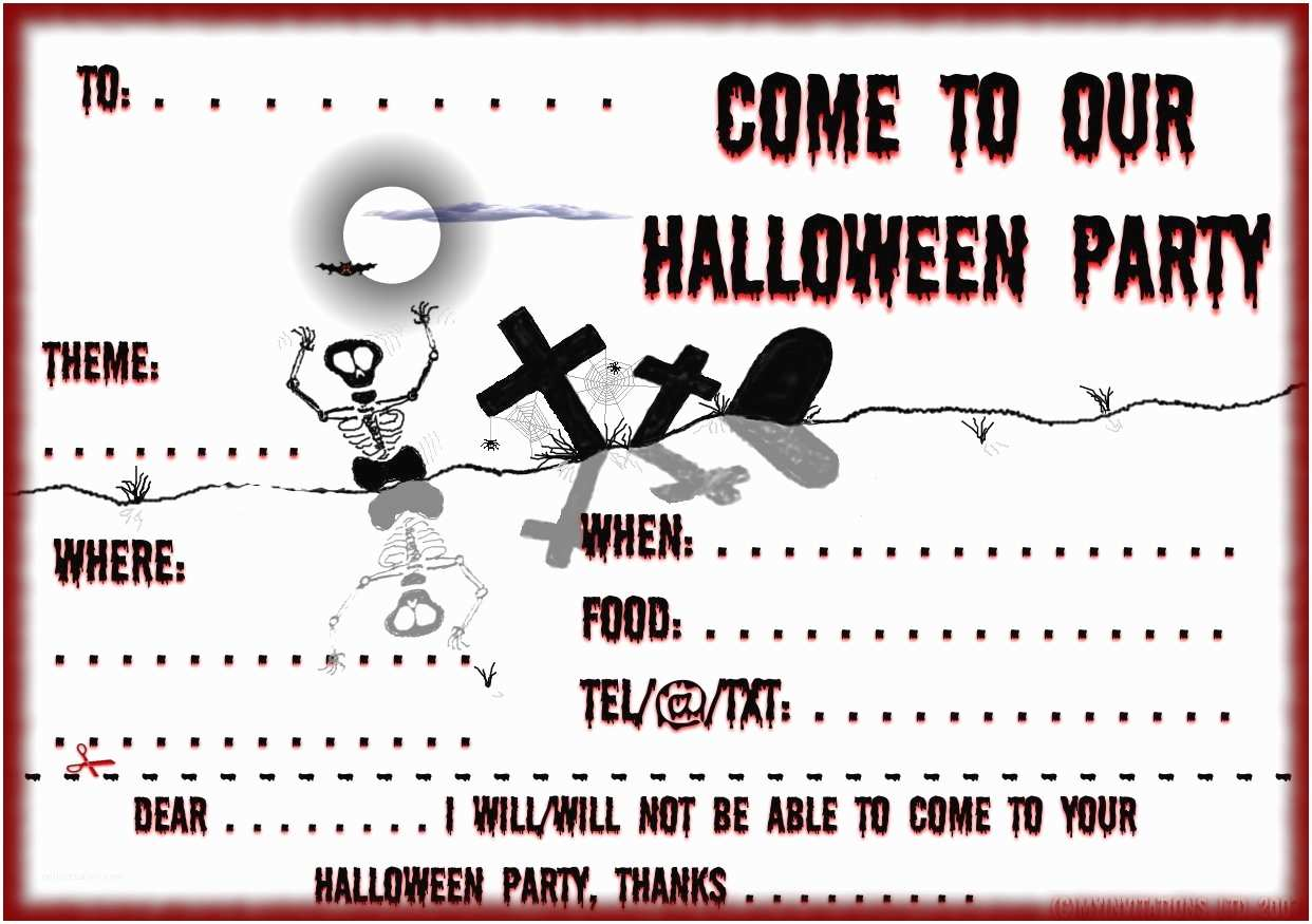 Halloween Party Invitations Templates Printable Halloween Party Invitations