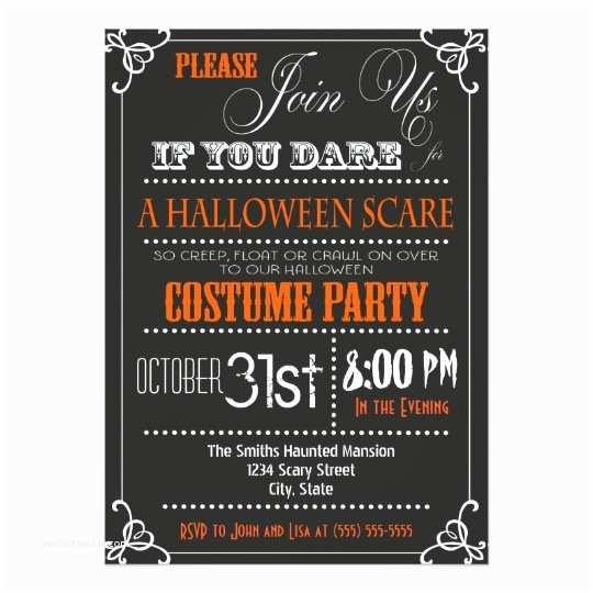 Halloween Party Invitations Typography Halloween Party Invitation