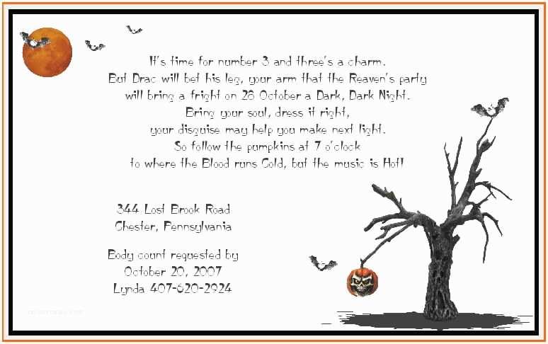 Halloween Party Invite Wording Adult Halloween Party Invitation Wording – Festival