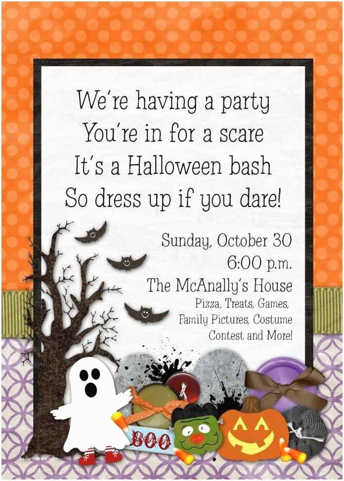 Halloween Party Invite Wording Birthday Invitations Spectacular Halloween Birthday