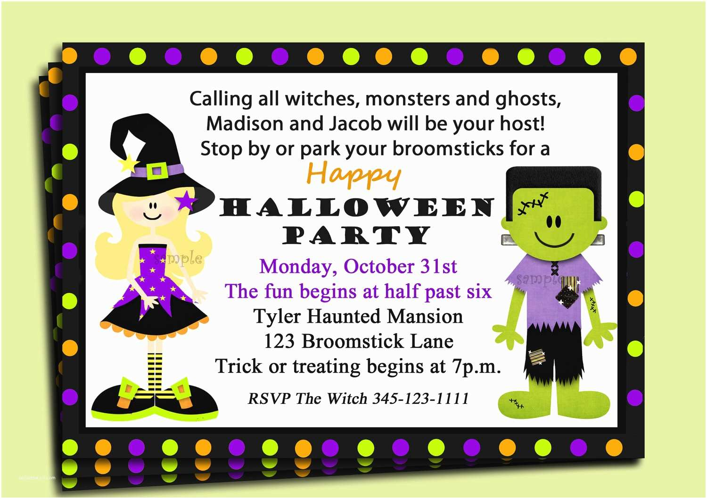 Halloween Party Invite Wording Halloween Birthday Party Invitation Wording