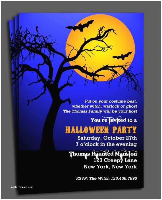 Halloween Party Invite Wording Halloween Invitation Printable Spooktacular Tree by that