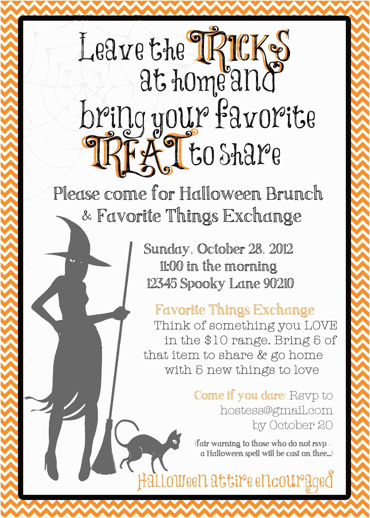 Halloween Party Invite Wording Halloween Party Invitation Ideas