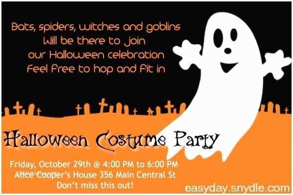 Halloween Party Invite Wording Halloween Party Invitation Wording Easyday