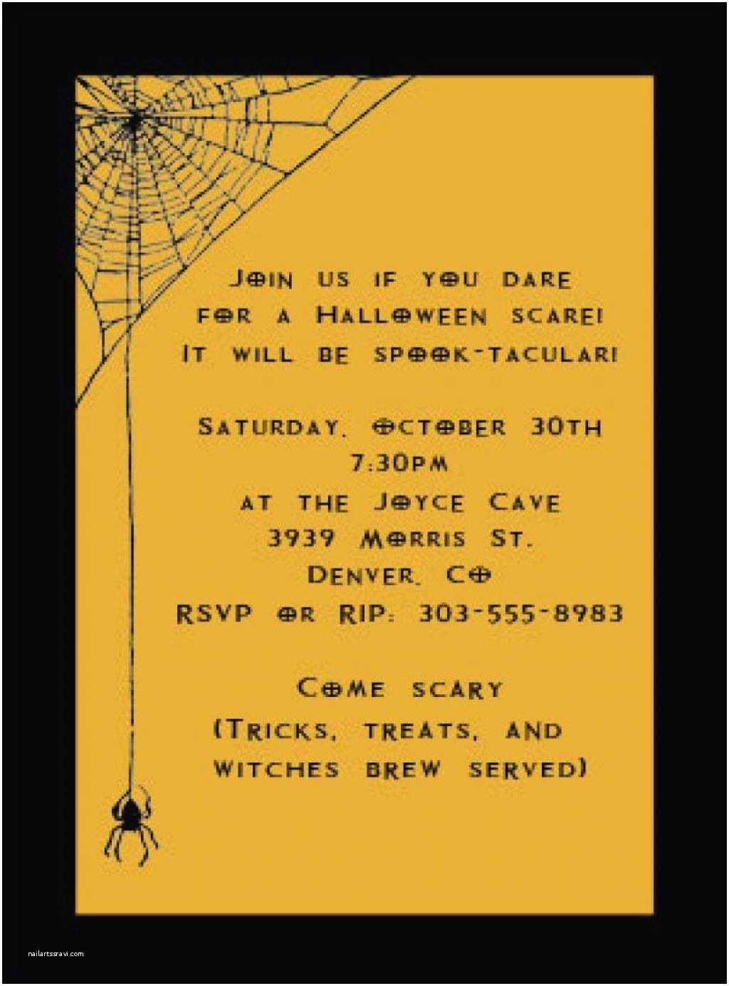Halloween Party Invite Wording Halloween Party Invitation Wording – Gangcraft