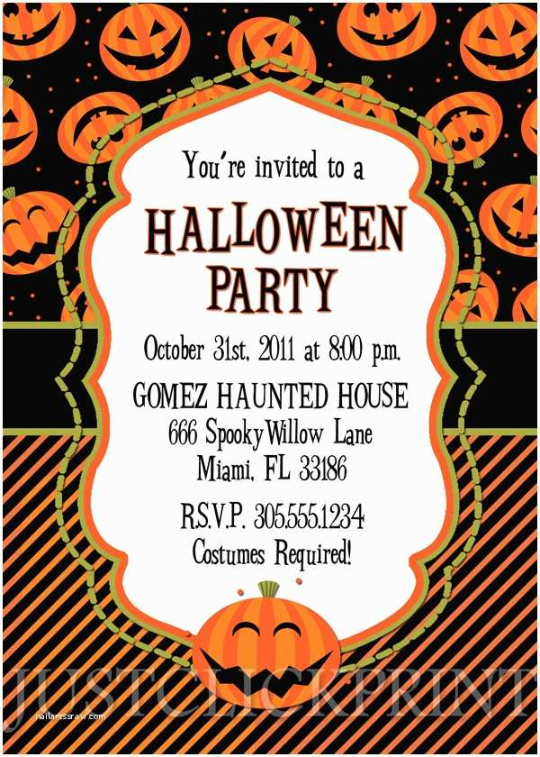 Halloween Party Invite Wording Happy Pumkins Halloween Party Invitation Printable · Just