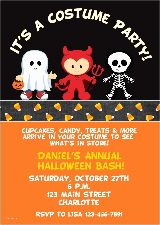 halloween costume party invitation