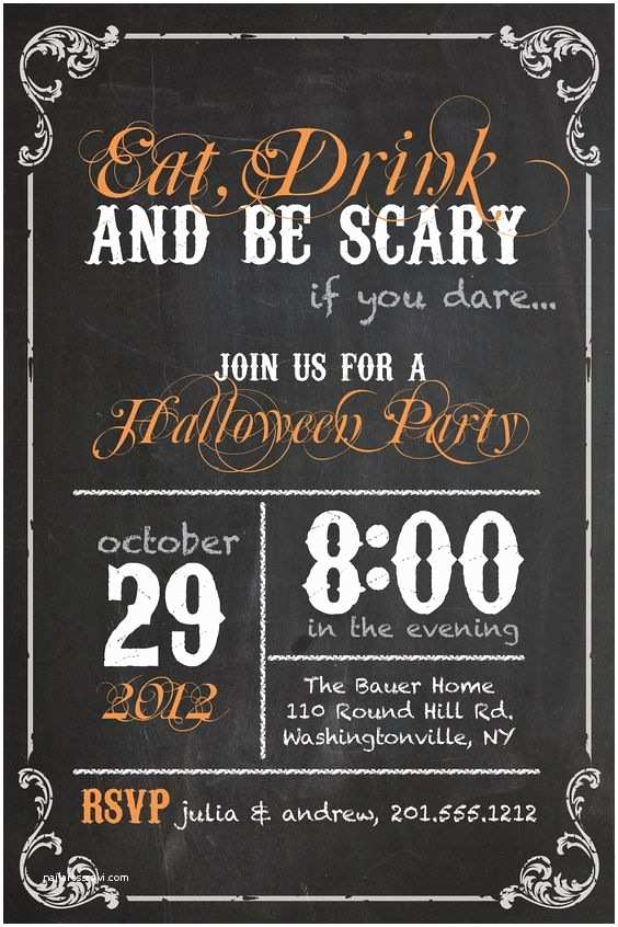 Halloween Party Invites Halloween Party Invitations Drinks and Halloween Party On
