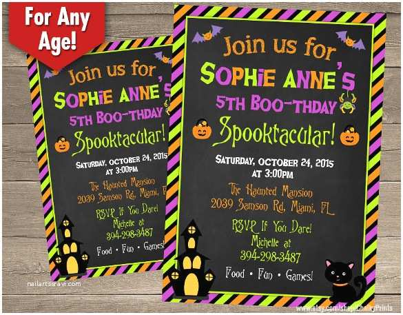 Halloween themed Birthday Party Invitations 20 Halloween Birthday Invitations – Free Psd Vector Eps