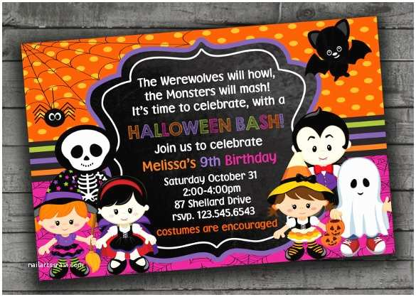 Halloween themed Birthday Party Invitations 42 Kids Birthday Invitation Templates – Free Sample