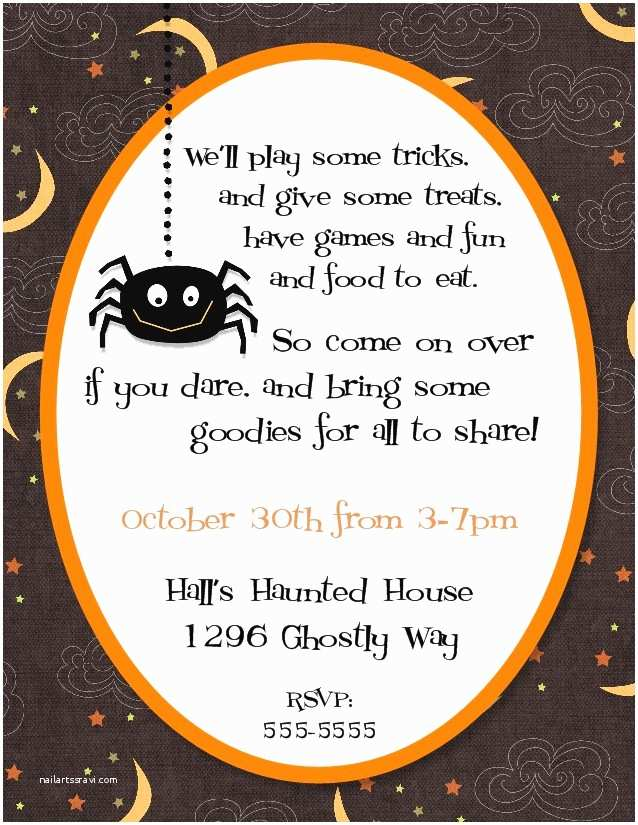 Halloween themed Birthday Party Invitations Bear River Greetings Halloween themed Invitations