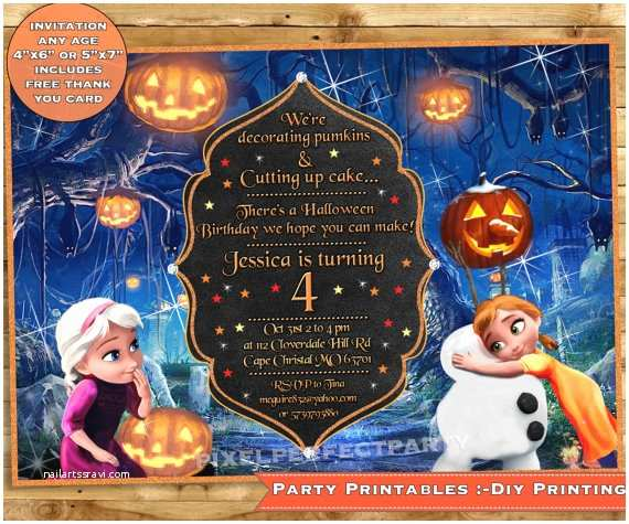 Halloween themed Birthday Party Invitations Birthday Party themes Halloween themed Birthday Party
