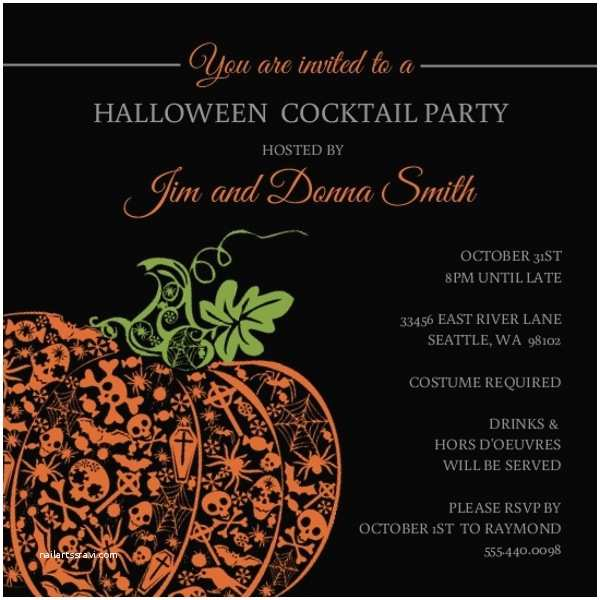 Halloween themed Birthday Party Invitations Glamorous Halloween Party Ideas Invitations themes