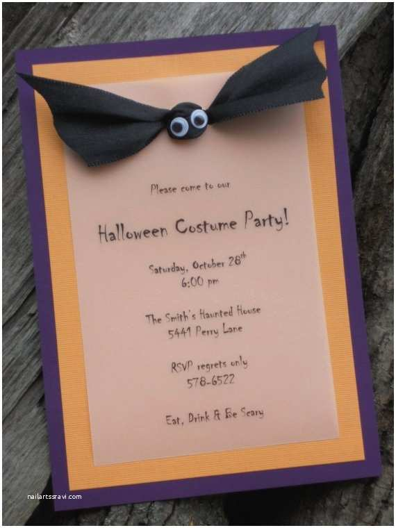 Halloween themed Birthday Party Invitations Halloween In Paper