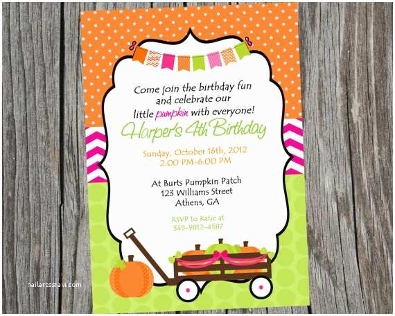 Halloween themed Birthday Party Invitations Printable Halloween Party Invitation Pumpkin themed