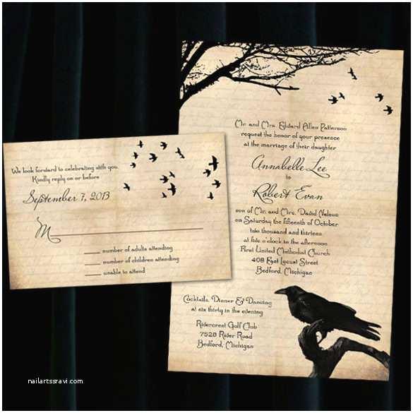 Halloween Wedding Invitations 22 Halloween Wedding Invitation Templates – Free