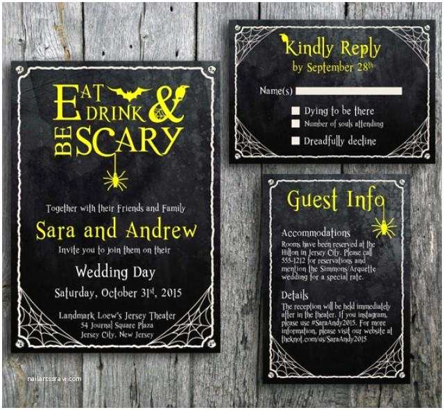 Halloween Wedding Invitations Halloween Wedding Invitation