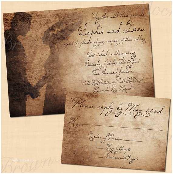 Wedding Invitations Premium Frankenstein S Bride Antique Printable