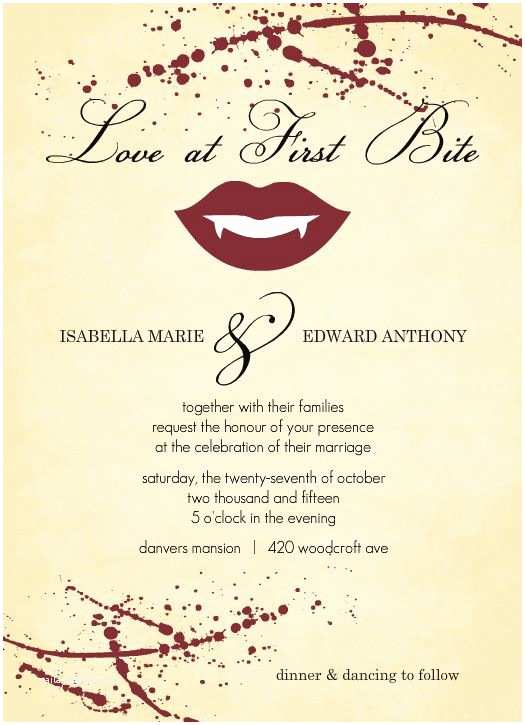 Halloween Wedding Invitations Vampire Party Invitation Google