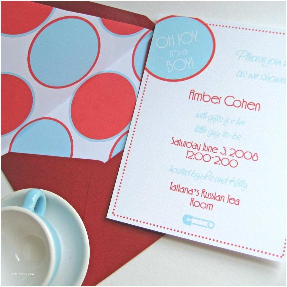 Handmade Baby Shower Invitations Handmade Baby Boy Shower Invitations