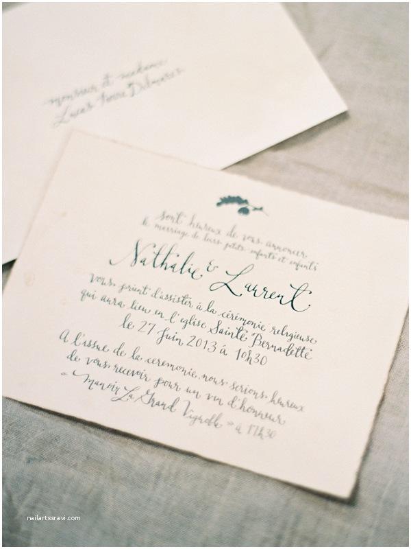 Handwritten Wedding Invitations Handwritten Calligraphy French Wedding Invitation Ce Wed