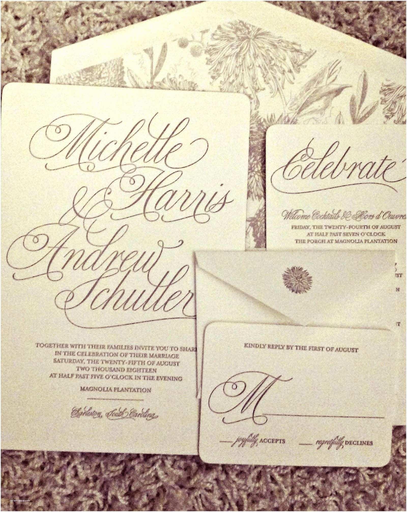 Handwritten Wedding Invitations Handwritten Calligraphy Wedding Invitation