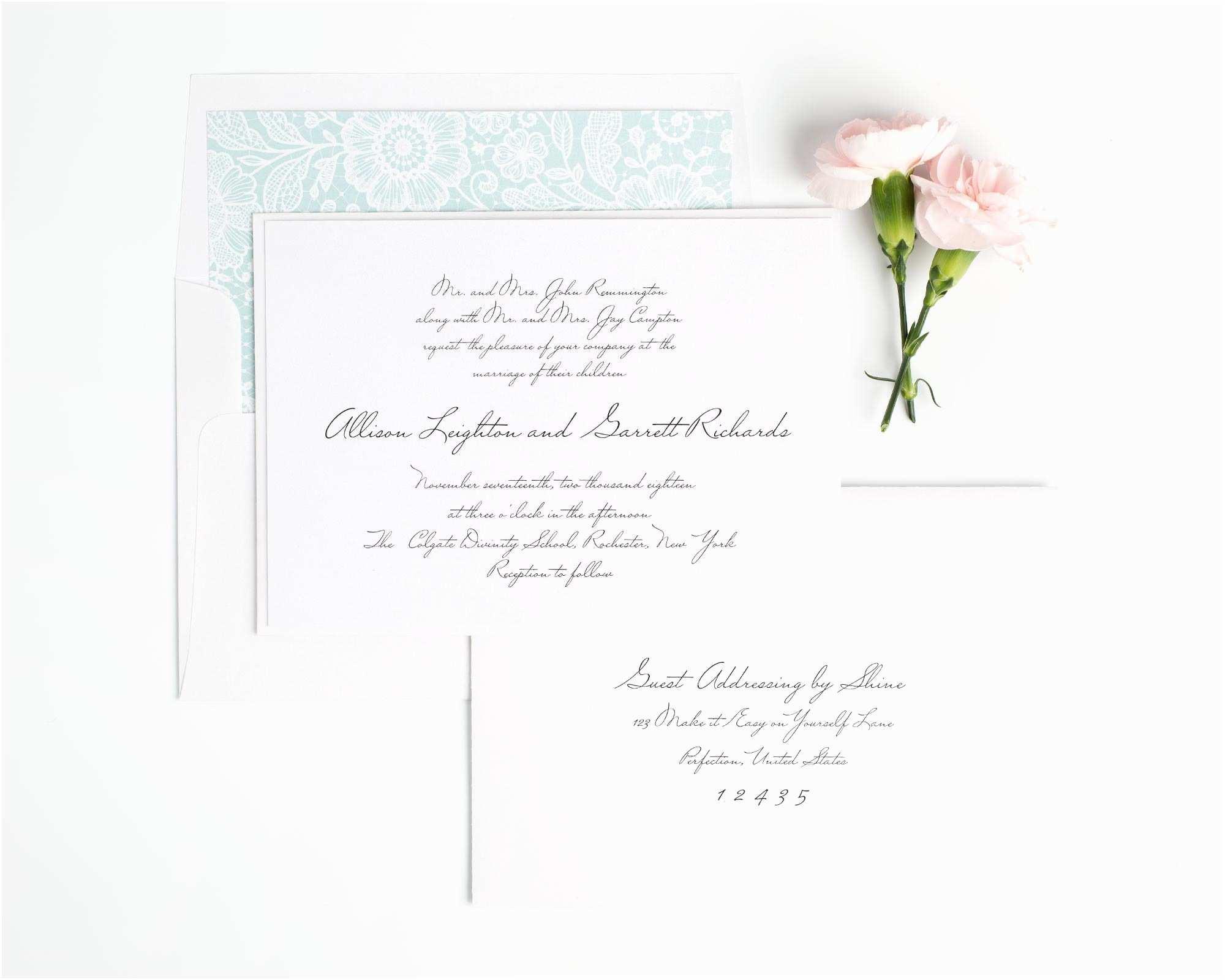 Handwritten Wedding Invitations Handwritten Inspired Wedding Invitations In Mint – Wedding