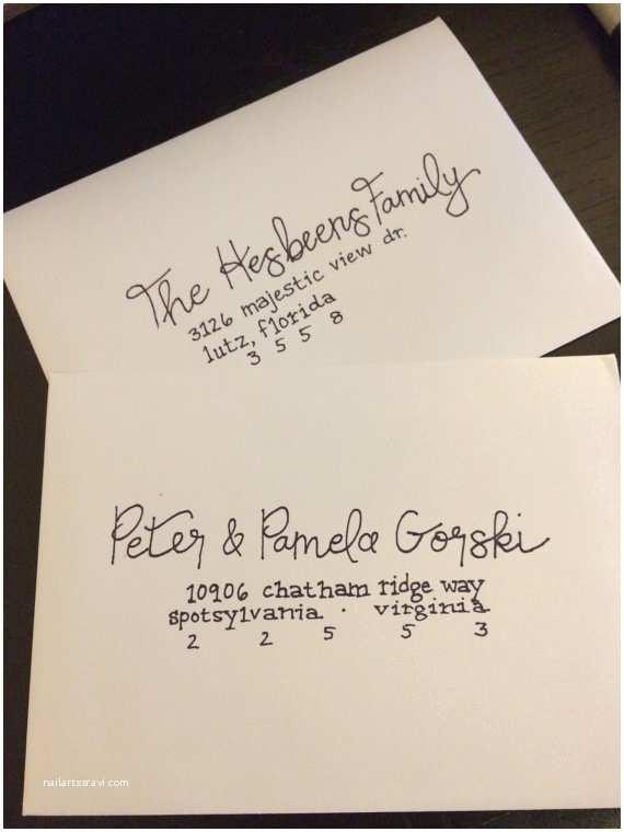 Handwritten Wedding Invitations Handwritten Wedding Calligraphy Invitations by