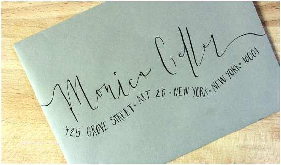 Handwritten Wedding Invitations Handwritten Wedding Invitation Envelopes Wavy Calligraphy