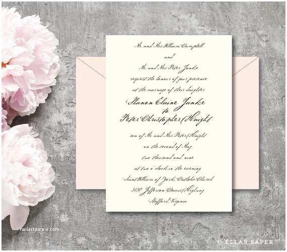 Handwritten Wedding Invitations Handwritten Wedding Invitation