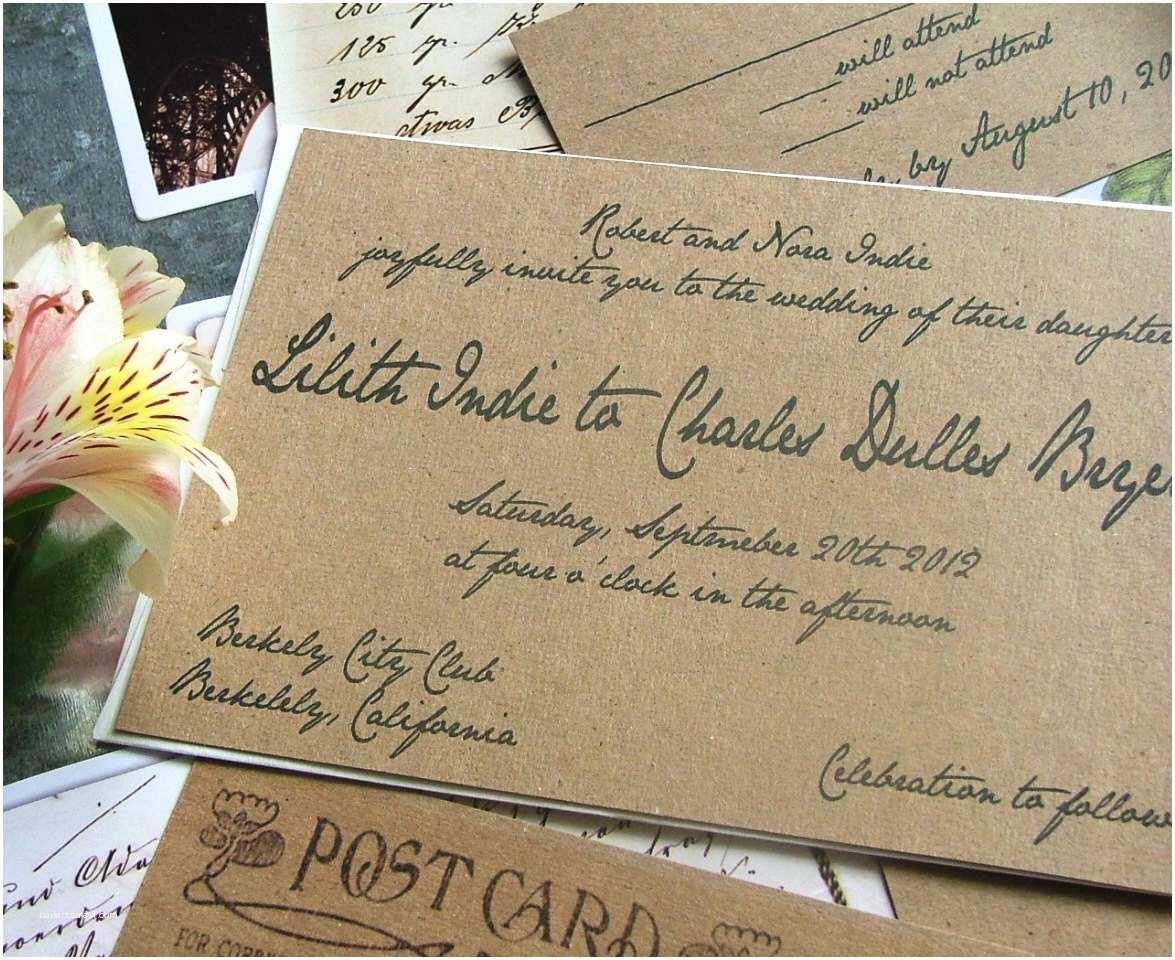Handwritten Wedding Invitations Impressive Handwritten Wedding Invitations