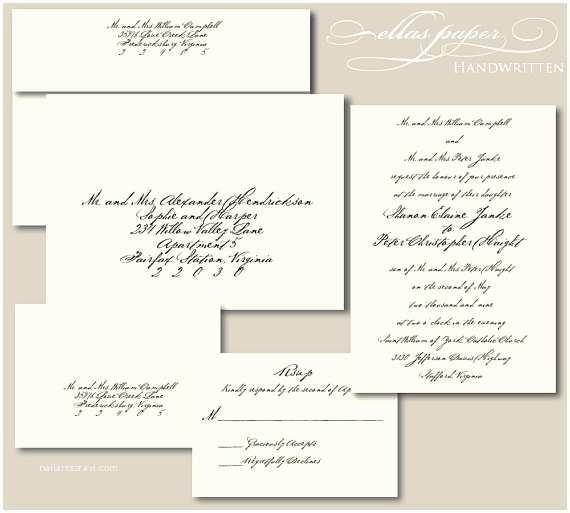 Handwritten Wedding Invitations Items Similar to Handwritten Wedding Invitation On Etsy