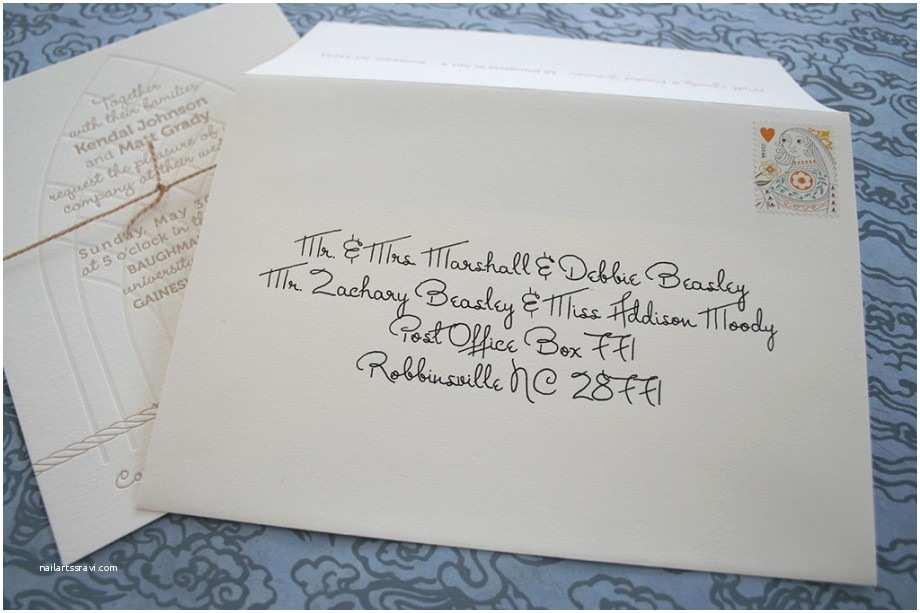 Handwritten Wedding Invitations Wedding Invitation Envelopes Ideas