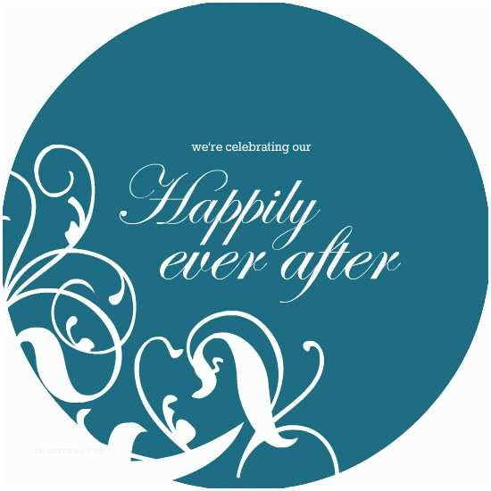 Happily Ever after Party Invitations 40th Anniversary Invitations Whimsical Teal Happily Ever