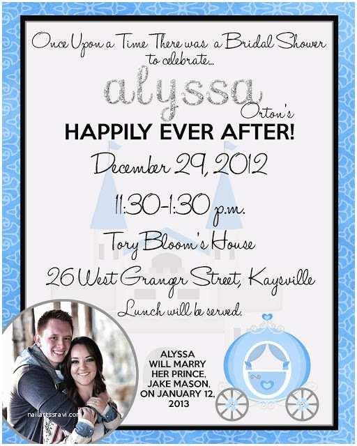 Happily Ever after Party Invitations Announcements to Ponder Happily Ever after Cinderella