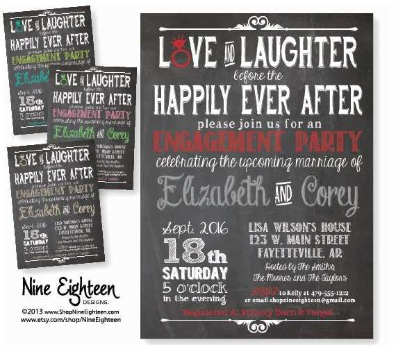 Happily Ever after Party Invitations Items Similar to Love & Laughter before Happily Ever after